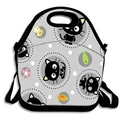 Fashion Neoprene Lunch Bags Insulated Picnic Lunch Tote Bag