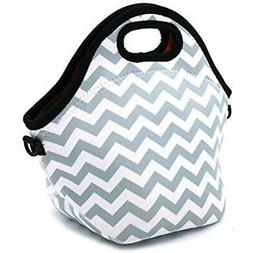 Orchidtent Neoprene Lunch Bags Water Resistant Portable Carr