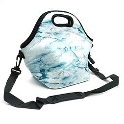 Orchidtent Neoprene Lunch Tote,Insulated Waterproof Lunch Ba