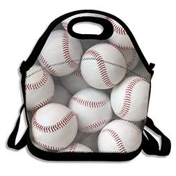Neoprene Lunch Tote - Baseball Wallpaper Waterproof Reusable