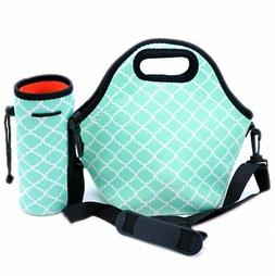 Orchidtent Neoprene Lunch Bag with Zipper Strap Box Cooler P