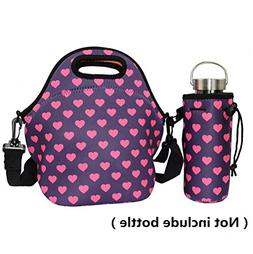 Orchidtent Neoprene Water Resistant Portable Lunch Bag Carry
