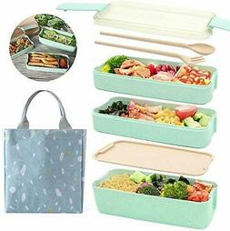 New Bento Lunch Box with Free Utensils Multi Compartment Eas