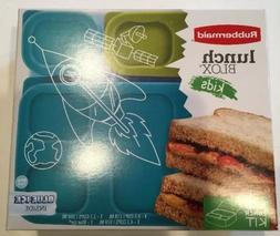 New BPA FREE Rubbermaid Lunch Blox Kids Container Kit with B