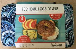NEW Fit & Fresh Bento Lunch Box Set Lunchbox Container 5 Pie