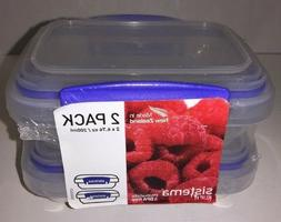 NEW Sistema Klip It Collection Rectangle Food Storage Contai