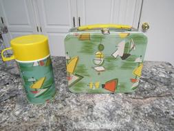 New Old Stock  - G Whiz! Tin METAL LUNCHBOX with Thermos. Ne