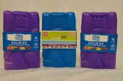 New Cool Gear Reusable Ice Block Pack, Blue or Purple BPA Fr