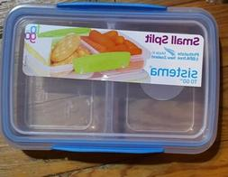 New! Sistema To Go Split Compartment Lunch Box  350 ml blue