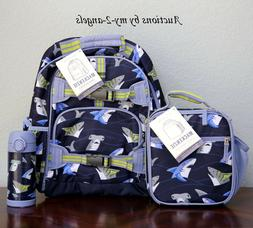 NEW Pottery Barn Kids TROPICAL SHARKS Large Backpack Lunch B