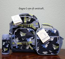 NEW Pottery Barn Kids TROPICAL SHARKS Small Backpack Lunch B