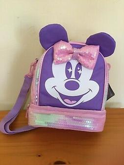 NWT Disney Store Minnie Mouse Lunch Box Tote Bag School Pink