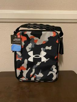 NWT Under Armour Thermos Camo Black Orange Gray Easy Clean I