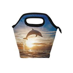 ocean animal dolphin insulated zipper