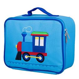 Olive Kids Train Embroidered Lunch Box