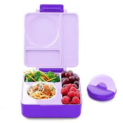 OmieBox - 3 Compartment Bento Lunch Box + Thermos Food Jar f