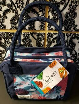 ONE Fit & Fresh Insulated Lunch Bag - Floral Pattern Tote CA