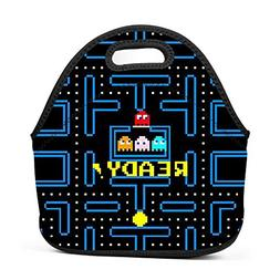 PAC-MAN Lunch Bags Portable Food Packet Tote Insulated Conve