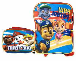 Paw Patrol Boys School Backpack Lunch Box Book Bag Combo Set