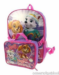 Paw Patrol Skye and Everest Backpack and Lunch Box NWT