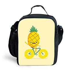 Amzbeauty Pineapple Lunch Bag for Kids Insulated Personalize