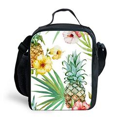Amzbeauty Pineapple Lunch Bag for Kids Personalized Insulate
