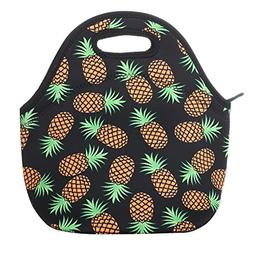Aiphamy Pineapple Neoprene Lunch Bag Insulated Lunch Box Tot
