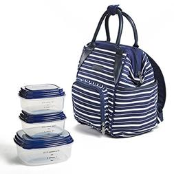 Fit & Fresh Piper Small Backpack Lunch Bag with Container Se
