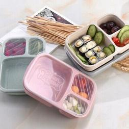 Plastic Lunch Box Food Container Set Bento Lunch Boxes With
