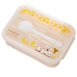 PANDA SUPERSTORE Plastic Microwave Lunch Box Preservation Bo