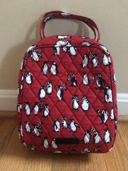 Vera Bradley Playful Penguins Red Lunch Bunch Bag Tote Lunch