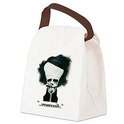 CafePress - Poe Canvas Lunch Bag - Canvas Lunch Bag with Str