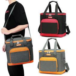 Portable Insulated Cooler Lunch Box Tote Adult Picnic Food B