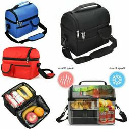 Portable Insulated Lunch Bag Box Picnic Travel for Women Men