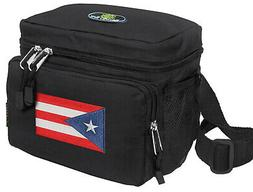 puerto rico flag lunch box cooler bag