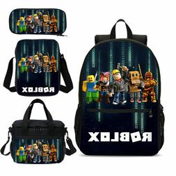 ROBLOX Design Kids Backpacks Students Schoolbag Insulated Lu