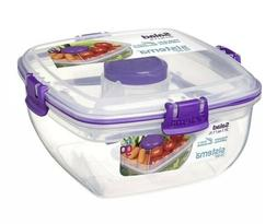 Sistema Salad To Go 1.1L 37.1oz. Salad Lunch Box BPA Free W