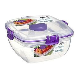 Sistema Salad To Go 1.1L Lunch Box Food Container with Remov