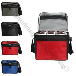 School Lunch Box Bag Cube Cooler 6 Can