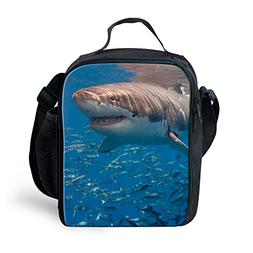 Amzbeauty Shark Lunch Bag for Kids Insulated Freezable Therm