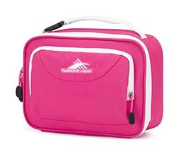 High Sierra Single Compartment Lunch Bag, Flamingo/White