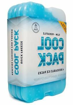 Cool Pack Slim Long-Lasting Ice Packs set of 4 - Great for C