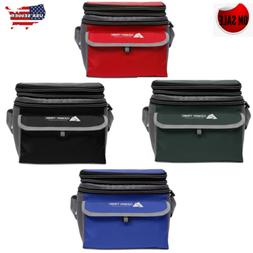 Soft Sided Cooler Outdoor Camping Picnic Lunch Box 6 CANS