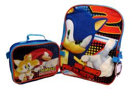 Sonic The Hedgehog Boys School Backpack Book Bag Lunch Box S
