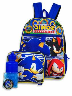 Sonic the Hedgehog Boys School Backpack Lunch Box Book Bag 5