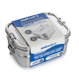Stainless Steel Bento Lunch Box. 3-In-1 Ecofriendly Durable