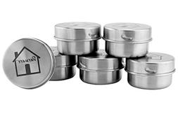 Small Stainless Steel Condiment Containers ; 1.5oz+ Metal Po