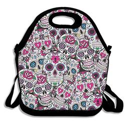 Most Fashion Maker Sugar Skull Pattern 330 Lunch Bags Insula