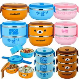 Thermal Insulated Bento Boxes Stainless Steel Lunch Box Picn