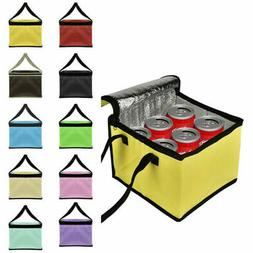 Thermal Insulated Cooler Bag Food Lunch Can Picnic Box Tote